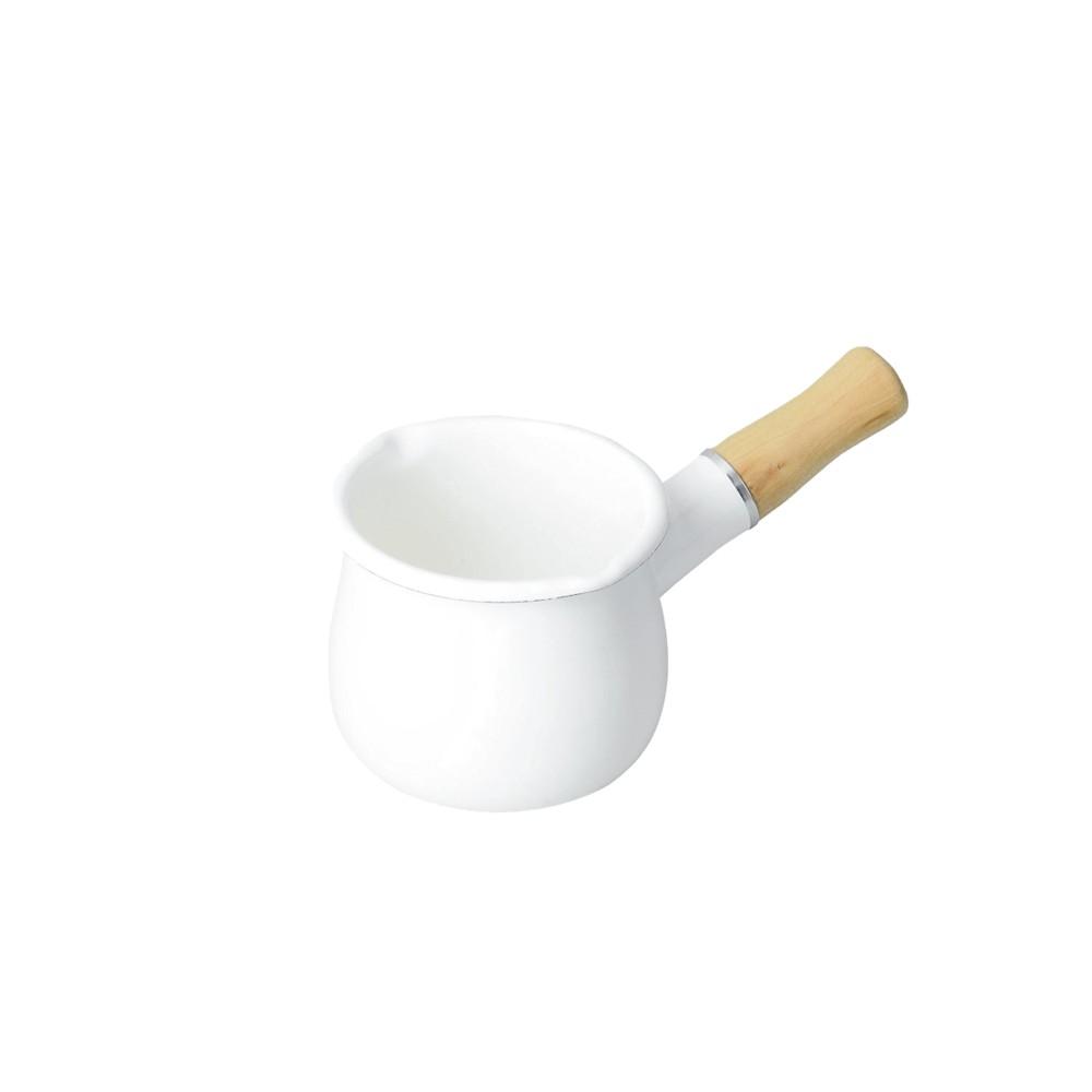 인덕션 화이트 법랑 밀크팬 밀크팟 우유 데우기 아기 이유식 냄비