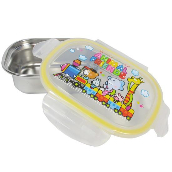 애니멀프렌즈 1구 유아스텐도시락통 어린이집 간식접시 아기 죽그릇, 상세설명 참조, 없음