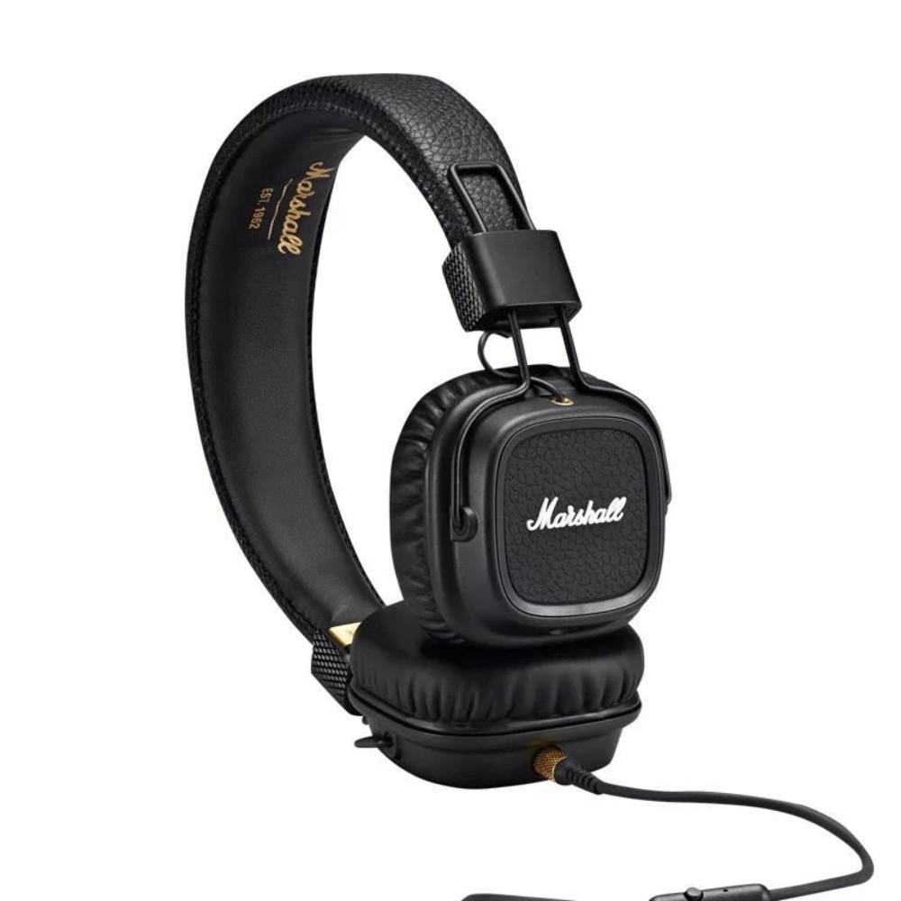 마샬 메이저2 메이저3 무선 유선 선택 블루투스 헤드폰 Marshall Major3, 2 세대 블랙 플러그인