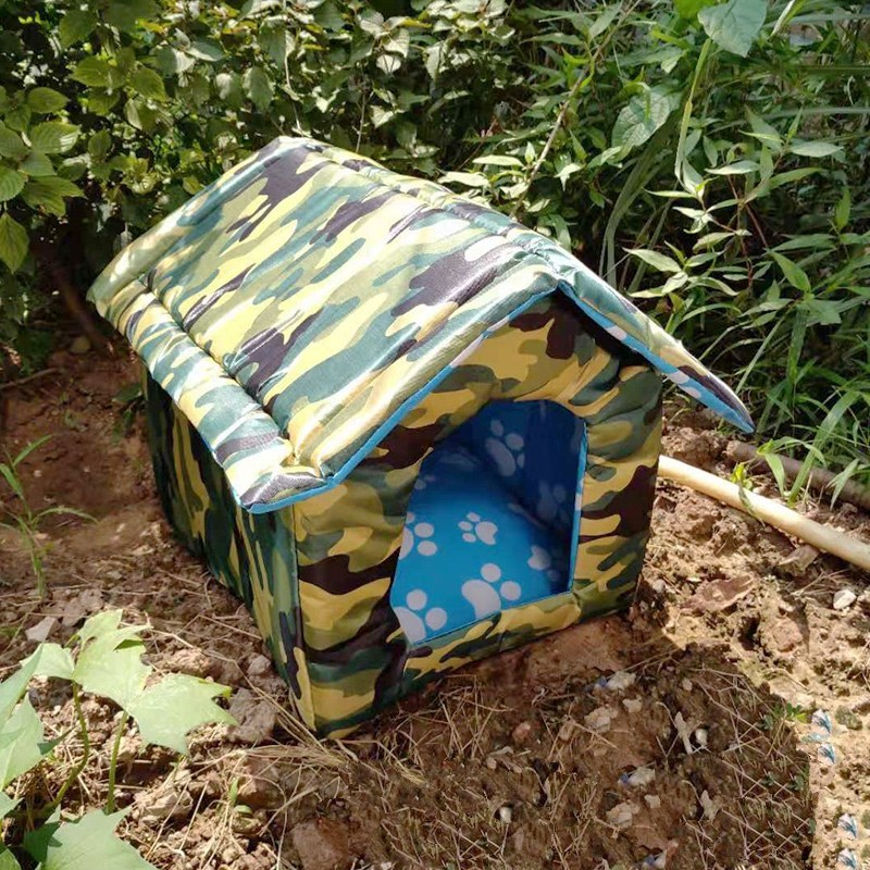 바미나래 카모플라주 길고양이 길냥이 고양이 실외 급식소 숨숨집 하우스 겨울집 야외용, 그린 카모플라주