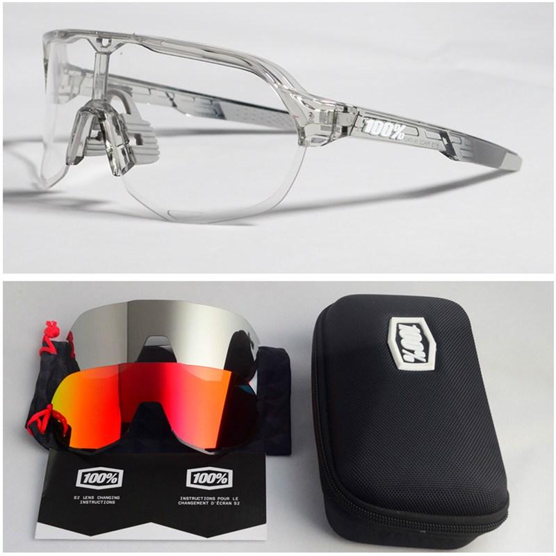 백프로 자전거 싸 사이클 안경 라이딩 고글 선글라스 착용, s2 투명 프레임 화이트 라벨 세 렌즈 (POP 1930244232)