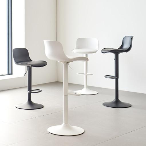 가구로드 클릭-루시바텐 높낮이조절의자 360도회전의자 철제바의자 (2가지버전), 루시바텐-화이트