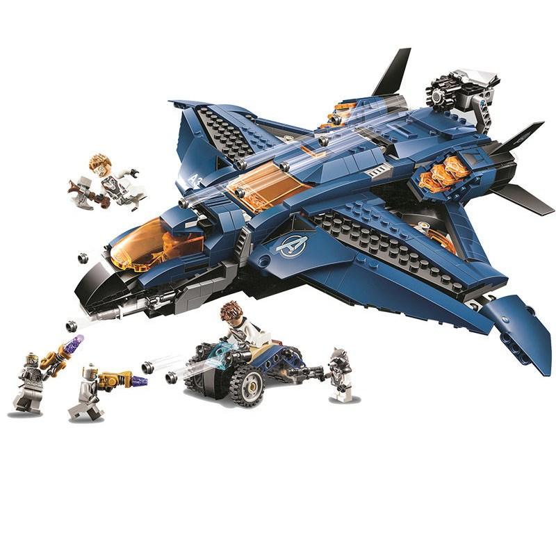 [해외] 쏠티샵 어벤져스 아이언맨 연구실 퀸젯 비행선 타노스 연합전투 레고호환블록, 어벤져스 비행선