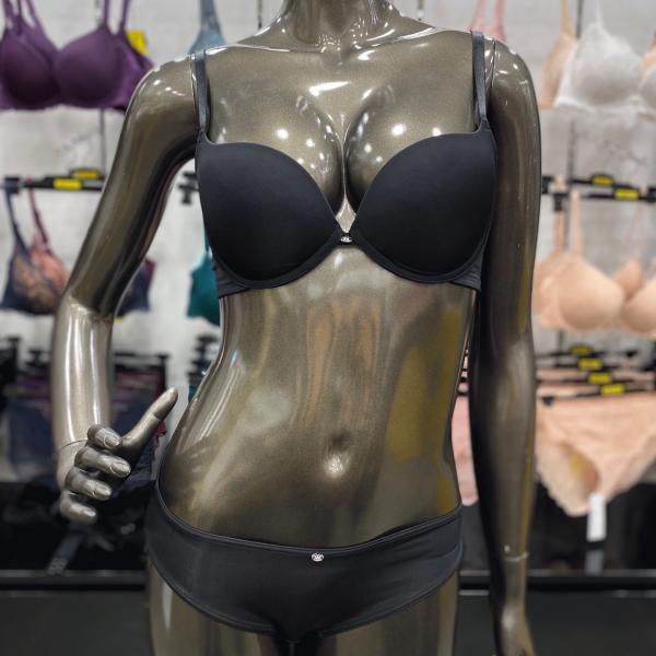 [엔터식스]원더브라 여자속옷 블랙 풀커버리지 브라팬티 세트WBWBR0I02T-BK WBWPT0I01T-BK