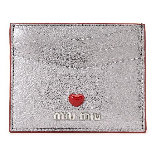 [미우미우] 마드라스 러브 5MC002 2BC3 F0135 여자 명함/카드지갑