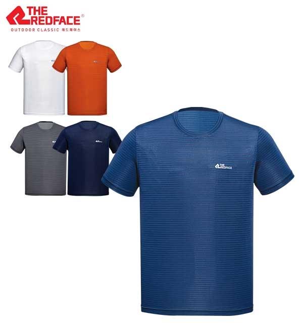레드페이스 남성 여름 흡습/속건 티셔츠 더블 메쉬 라운드 하프 티셔츠 REWMTSM18615