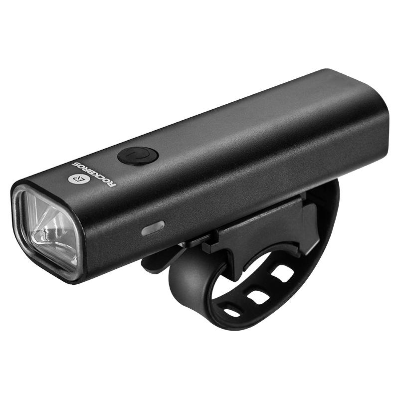 락브로스 USB 충전식 LED 자전거 라이트, 블랙