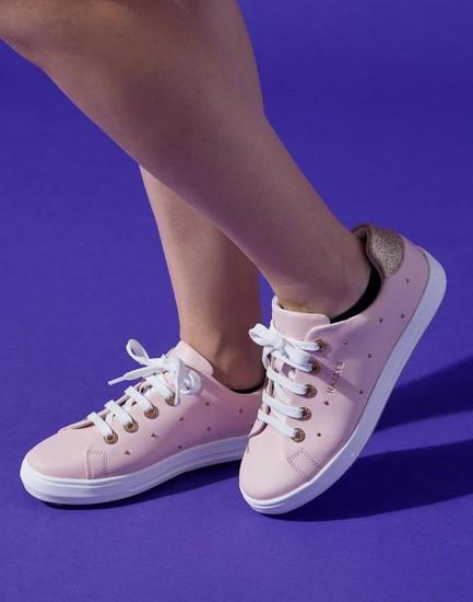 헤지스 골프화 - [헤지스 골프 여성][ESSENTIAL]핑크 스터드장식 편안한 가죽 골프화 HWSO0F501P1