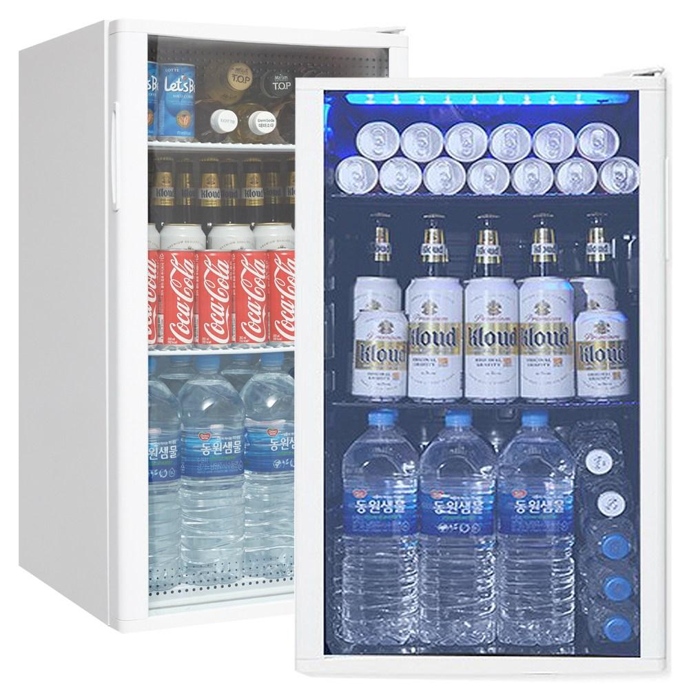 씽씽코리아 미니냉장고 음료냉장고 LSC-60 LSC-92 LSC-92(LED) 음료쇼케이스, LSC-92(화이트)LED (POP 2002314921)