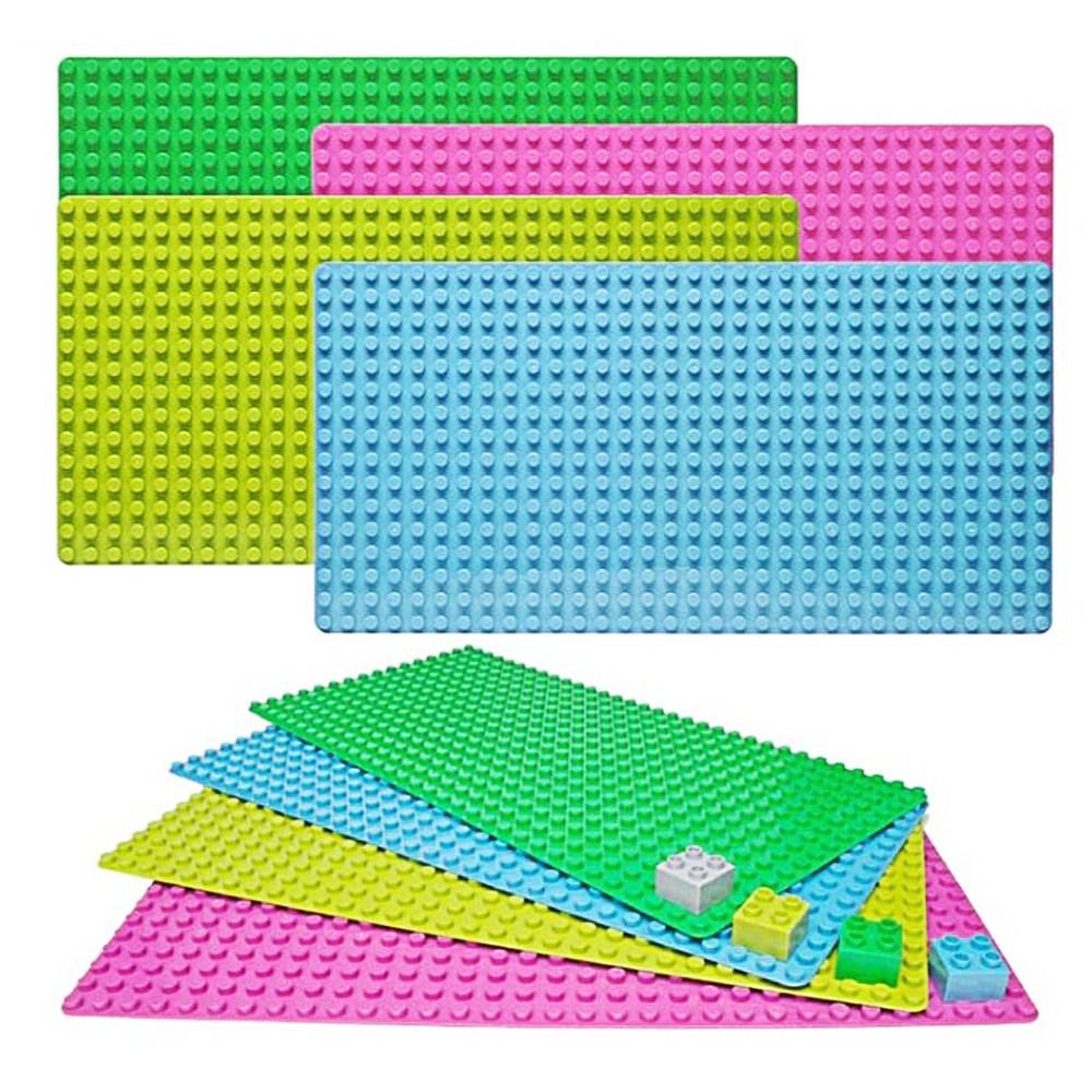 토이다락방 레고 클래식 대형 블럭 놀이판 레고판, 레고판 32x48칸 - 초록