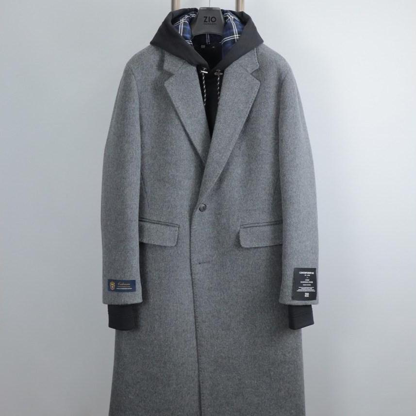 지오송지오 ZUW21540 차콜그레이 반더블 캐시미어 코트