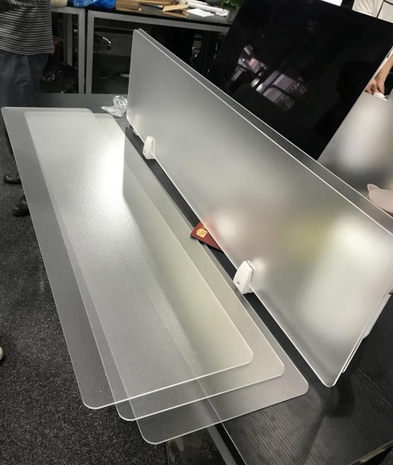 코로나 식당 사무실 투명 아크릴 비말 차단막 칸막이 책상 가림판 가림막, 120 * 30cm  반투명  클립형