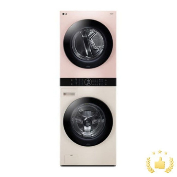 LG전자 워시타워 오브제컬렉션 W16EP [세탁기24KG+건조기16KG/드럼-베이지 건조기-핑크], 단품