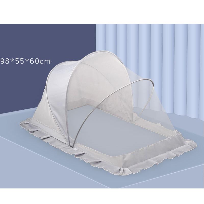 뉴타임즈9 아기 침대의 모기장은 덮개 형태로 접을 수 있다 QH23 A22, 01 그레이
