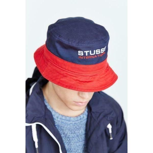 Stussy 레드 International 패션 Casual Bucket Hat Men 레드 Rouge Small Medium
