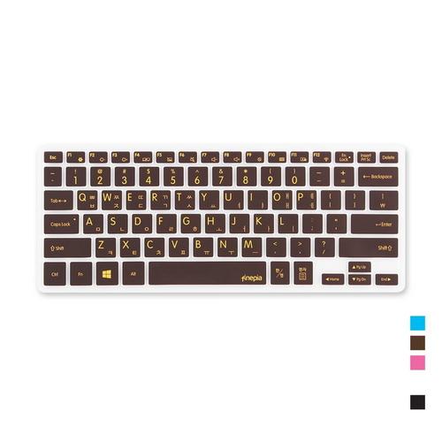 [바보사랑]삼성 노트북5 NT500R3M-K15W용 문자인쇄키스킨SS24, 블루, 본상품선택