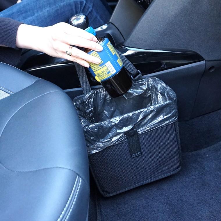 블랙 걸이식 자동차 차량용 휴지통 쓰레기통 포켓 주머니, a82접이형휴지통-블랙(봉투증정)