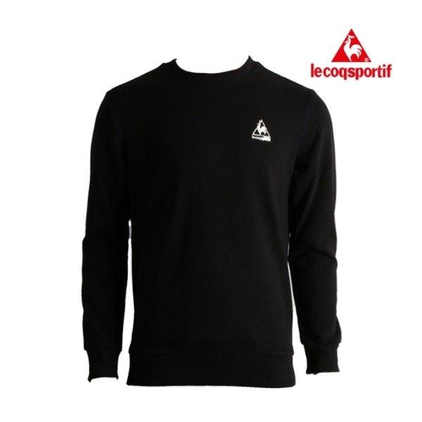 [르꼬끄] 맨투맨 베이직 빅로고 레귤러핏 스웨트 셔츠 Q0323AFS82 BLK