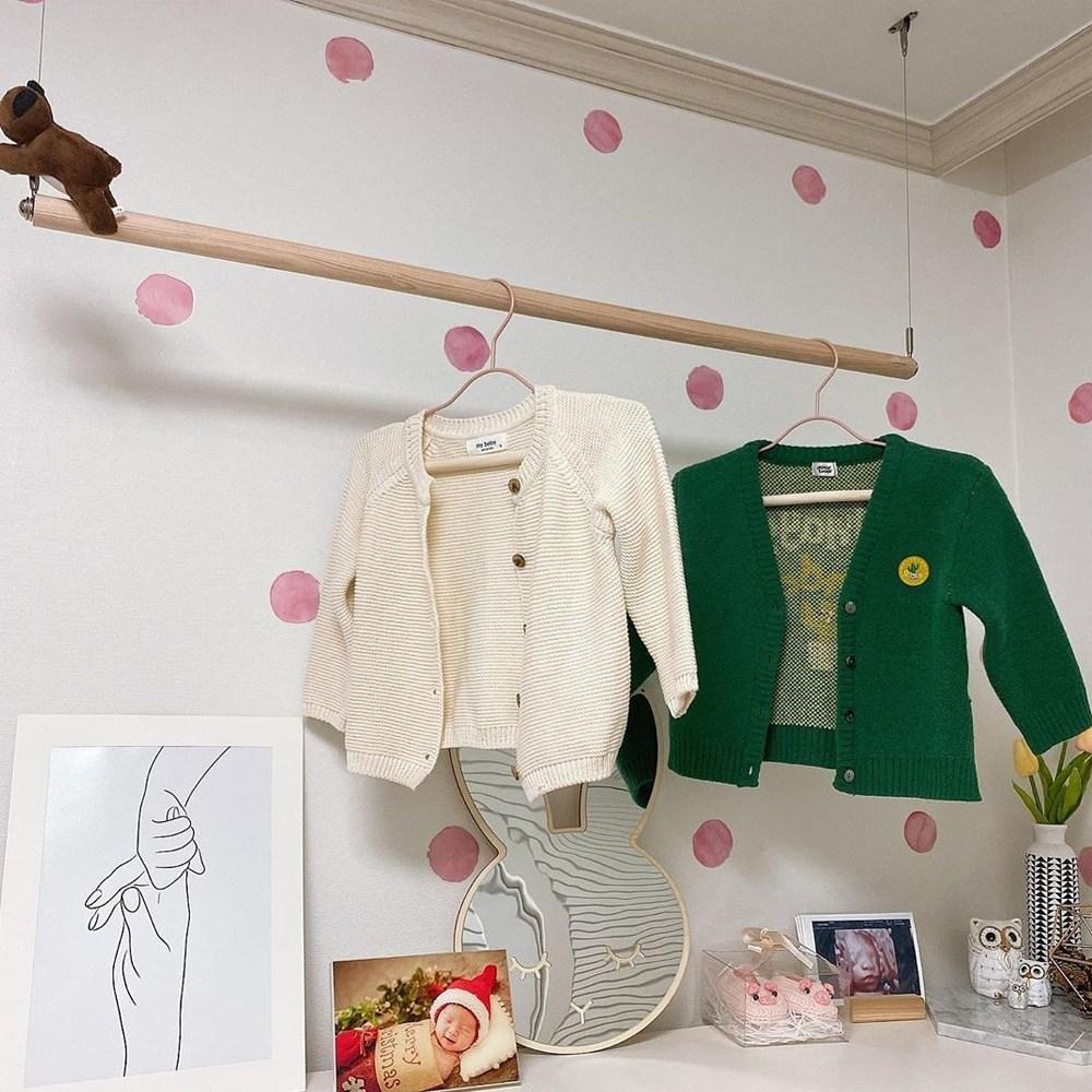 소르니아 우디 베이비&키즈 옷걸이, 1세트, 우디 베이비(핑크)5P