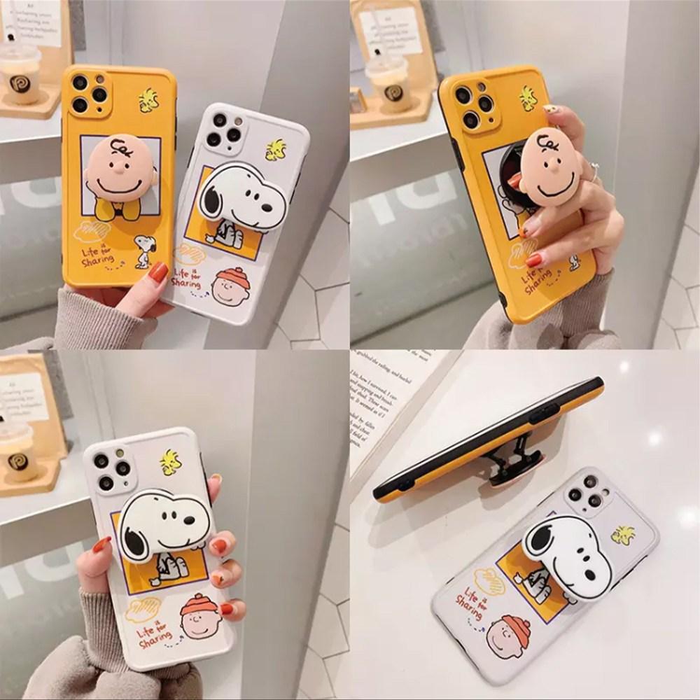 CC 갤럭시 귀여운 만화 캐릭터 그립톡 스마트톡 젤리 핸드폰 휴대폰 케이스 노트10 노트9 노트8 S20 S10 s9 s8 플러스