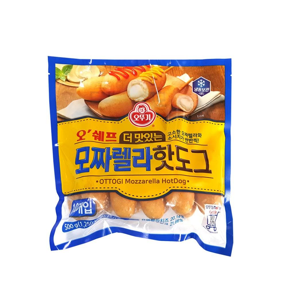 오쉐프 더 맛있는 모짜렐라핫도그50gx10개입500g, 1팩
