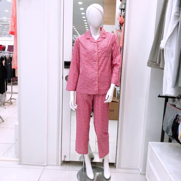 비비안 면 100% 프린트 파자마 여성 잠옷 WP9745A