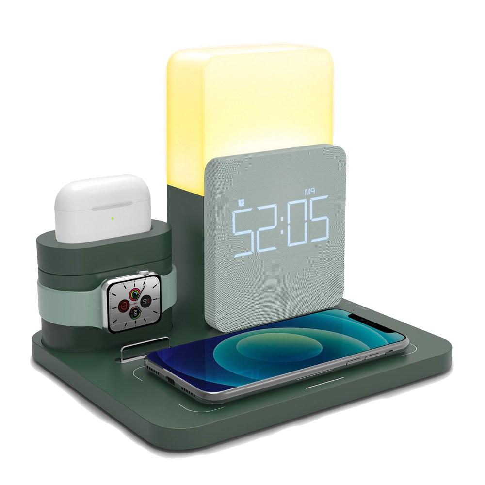 [M_tech] 애플워치 갤럭시워치 아이폰 고속 무선충전기 올인원 UM-AL3IN1 충전독 3in1, UM-AL3IN1/퀵차지 QC30W 고속어댑터