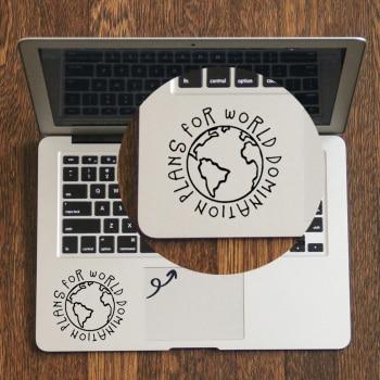 [해외] 애플 맥북 데칼 프로 에어 레티 나 11 12 13 15 인치 비닐 맥 도서 피부에 한 세계 지배 노트북 트랙 패드 스티커에 한 계획, 1개, Custom Size White Decal