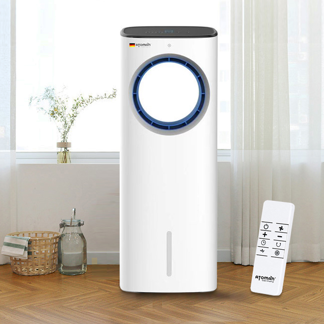 최신형 아토만 냉풍기 날개없는 터보냉풍 파워에어쿨러 선풍기 자연 기화냉각 (POP 5678599380)