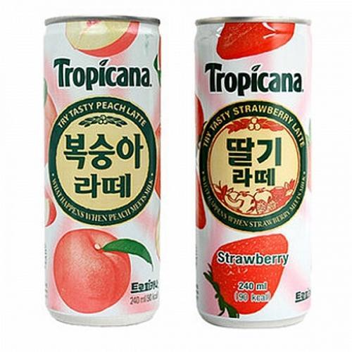 싸다팡 트로피카나 딸기라떼 240mlx30캔x2박스 베리주스, 1
