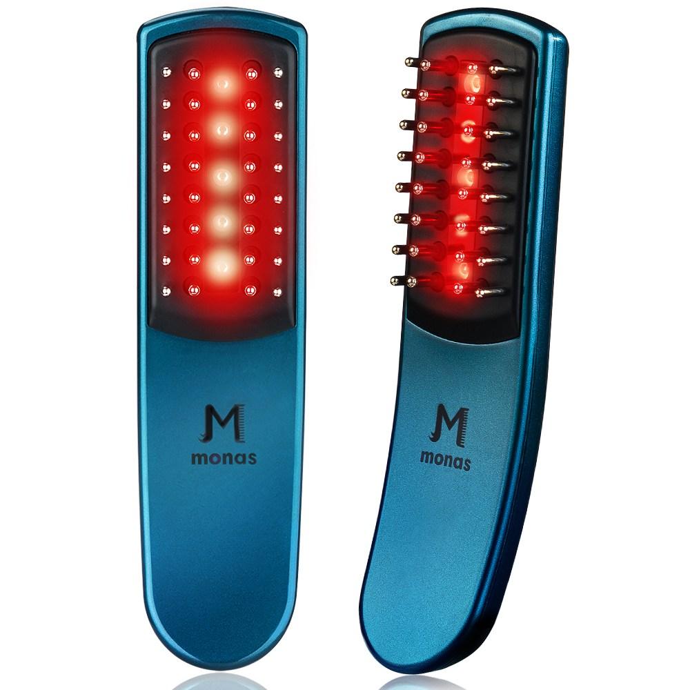 [쿠팡 판매량 1위 / 딱 일주일 *4만원 파격할인* 합니다] 모나스빔 레이저 모발관리기 LED 두피 마사지기 저출력 저준위 기기 기계, BN-BE100, 블루