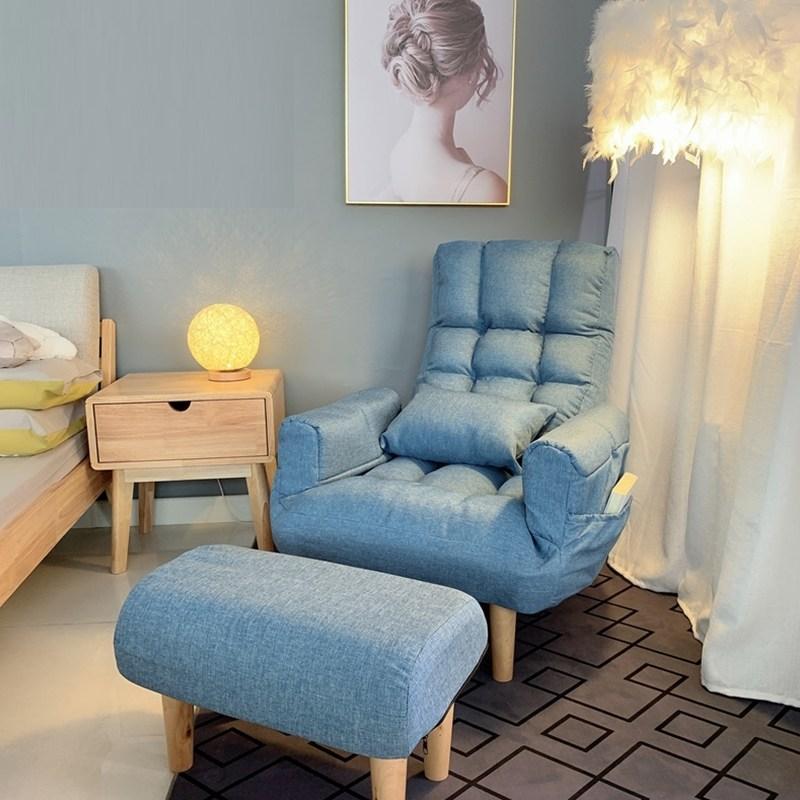 패브릭 린넨 1인 등받이 조절 파워 쿠션 안락 수유 의자 거실 암체어, 일반 타입, 추가안함, 핑크