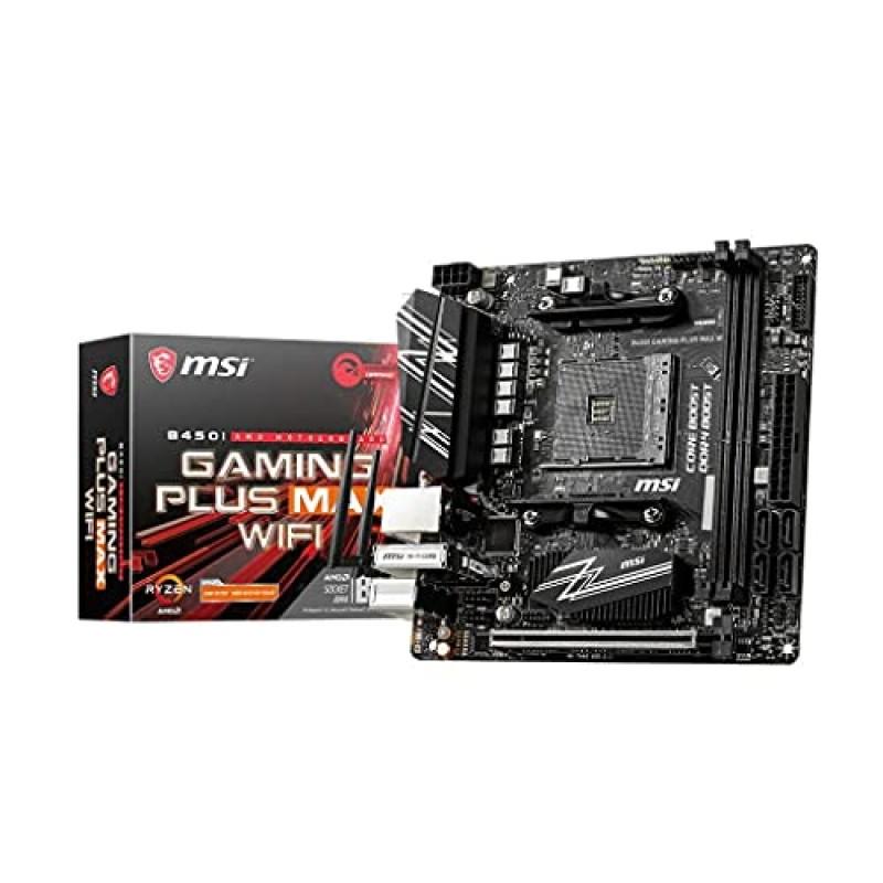 MSI B450I Gaming Plus MAX WiFi-Placa Base Performance Gaming (AMD Ryzen 3000 3 세대 Ryzen AM4 D, 단일옵션