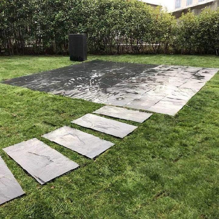 전원주택 정원 마당 옥상 테라스 조경 꾸미기 현무암 디딤석 판석 포천석, 직사각형 30x60cm 두께 3-4cm_다른
