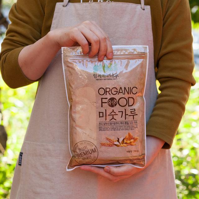 셋째딸농부 국산 유기농 미숫가루 아침대용선식, 1봉, 700g