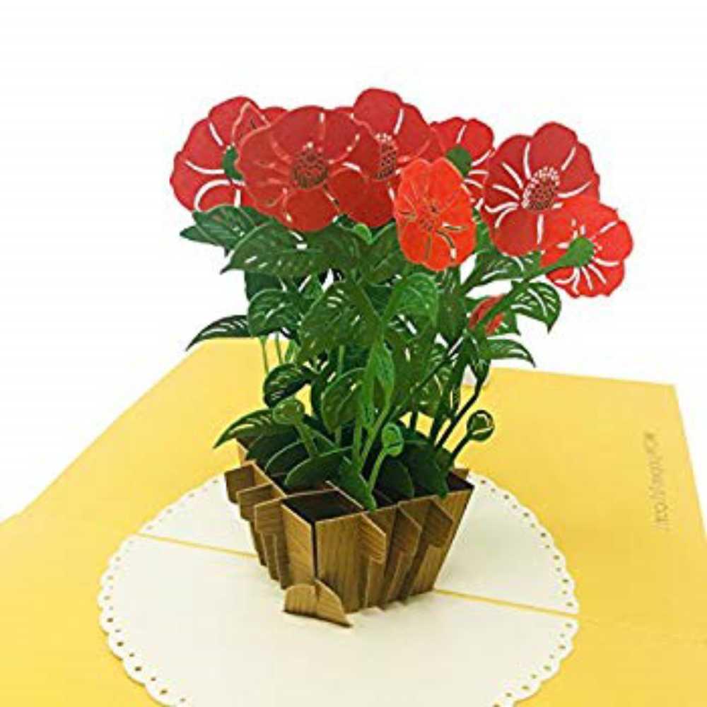 [구매대행] Wow Camellia Flower - 3D Pop Up Greeting Card for All Occasions Birthday Love Anniversary Good Bye Thank you Mother, 단일상품
