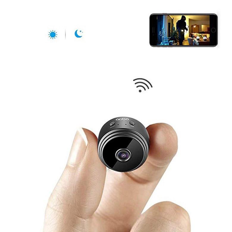 JL WIFI 미니 카메라 초소형 야간에 사용 가능, 검정