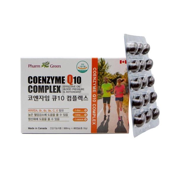 팜그린 코엔자임 큐10 컴플렉스 500mg*60캡슐 (높은 혈압감소 항산화에 도움), 100ml