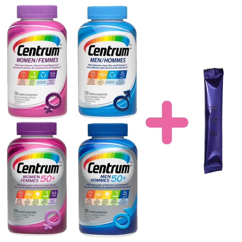 센트룸 성인 실버 멀티비타민 + 유산균 모음 무료배송, 1개, 02. 센트룸 포 맨 (250정)