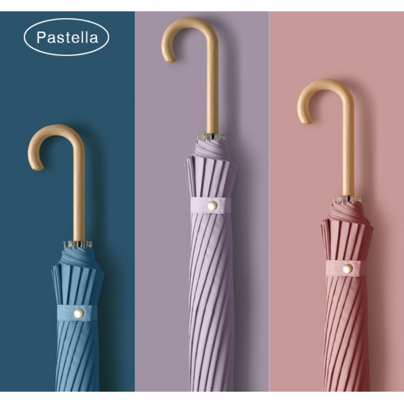 [샬롬] 파스텔 장우산 16K 튼튼한 예쁜 10가지 색상