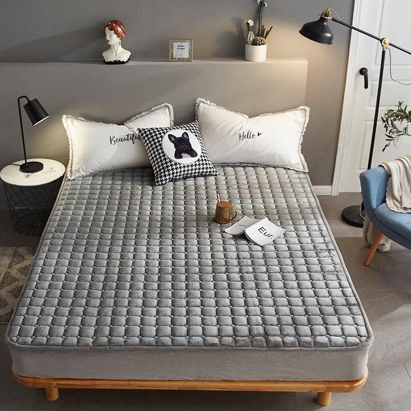 토퍼 템퍼 매트리스 침구 기타 겨울 기모 쿠션 학생 기숙사 싱글 담요 침대, AB_1.0 x 2m