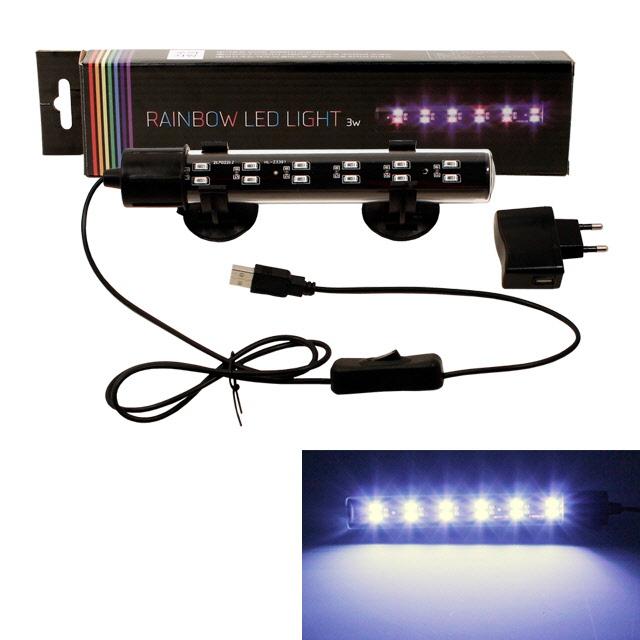 레인보우 LED수중등-4w 화이트 26cm