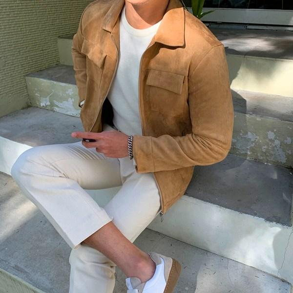 [헤일로샵] 맨즈 스웨이드 재킷