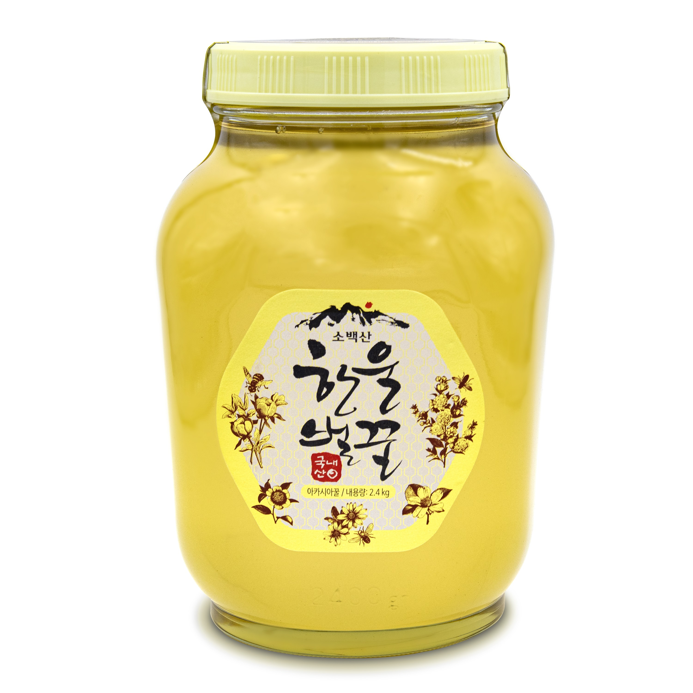 소백산 한울벌꿀 국내산 아카시아꿀 2.4kg, 1개, 기본포장 2.4kg