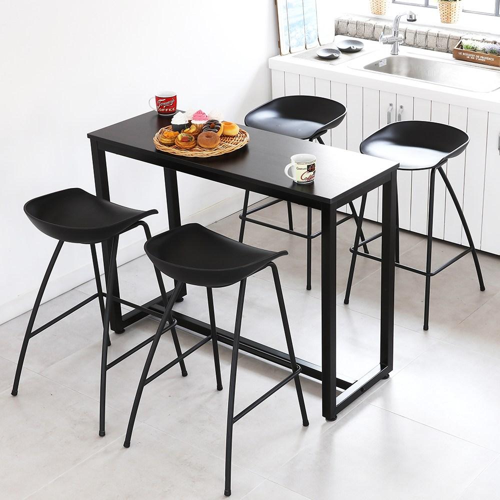 THEJOA [더조아] 홈바테이블 높은테이블 카페 인테리어 아일랜드식탁 홈바테이블 콘솔, 1200 블랙