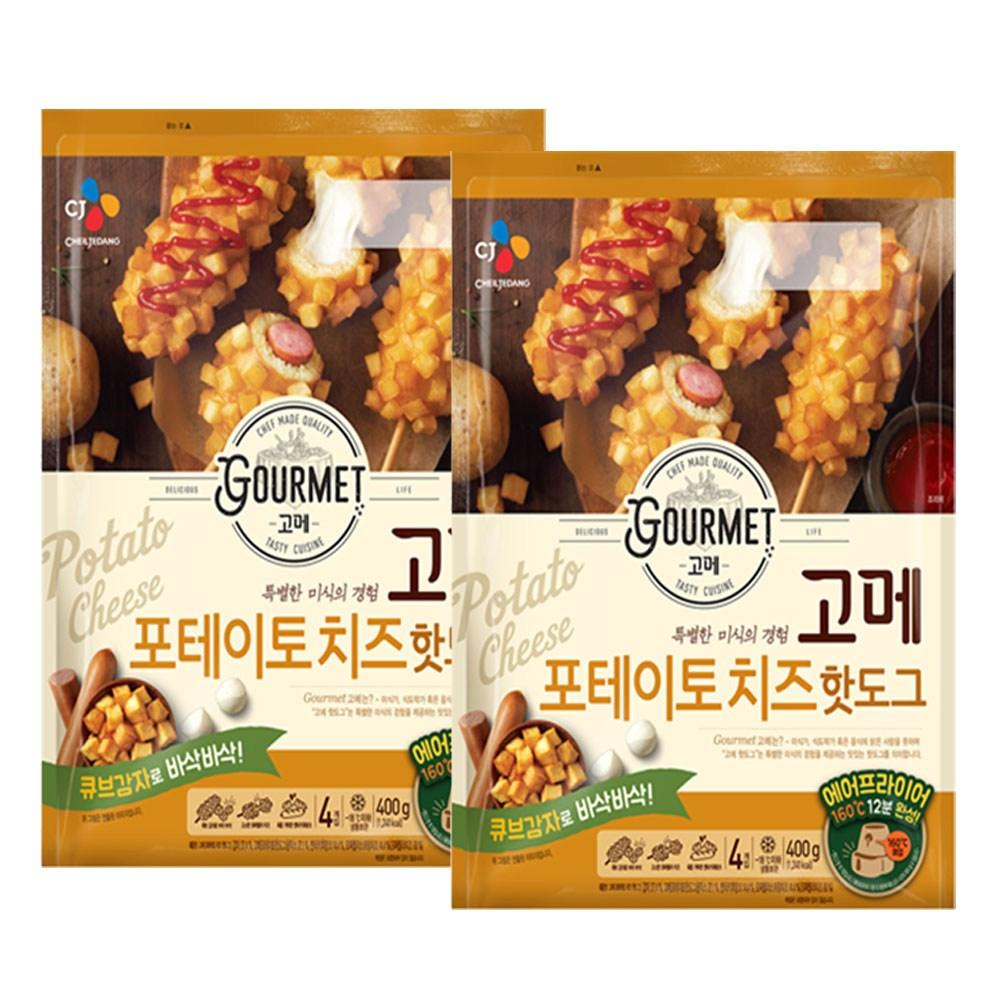 (냉동)고메 포테이토치즈 핫도그400gx2개, 1세트