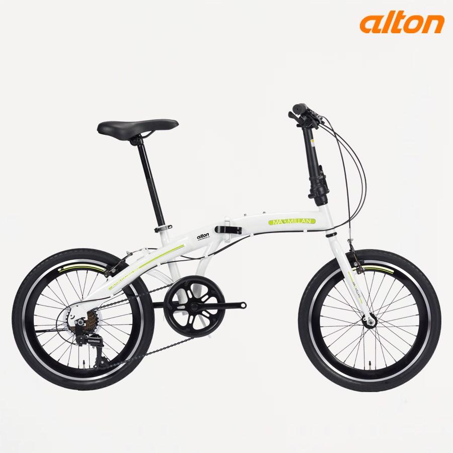 2021 알톤 접이식 미니벨로 자전거 맥밀란S 20인치, 화이트