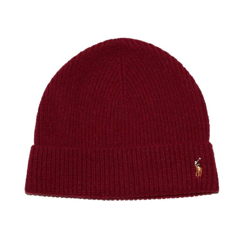 [미국 직구] POLO RALPH LAUREN 남성 비니 | 모자 6F0101 One Size Nomadic Red
