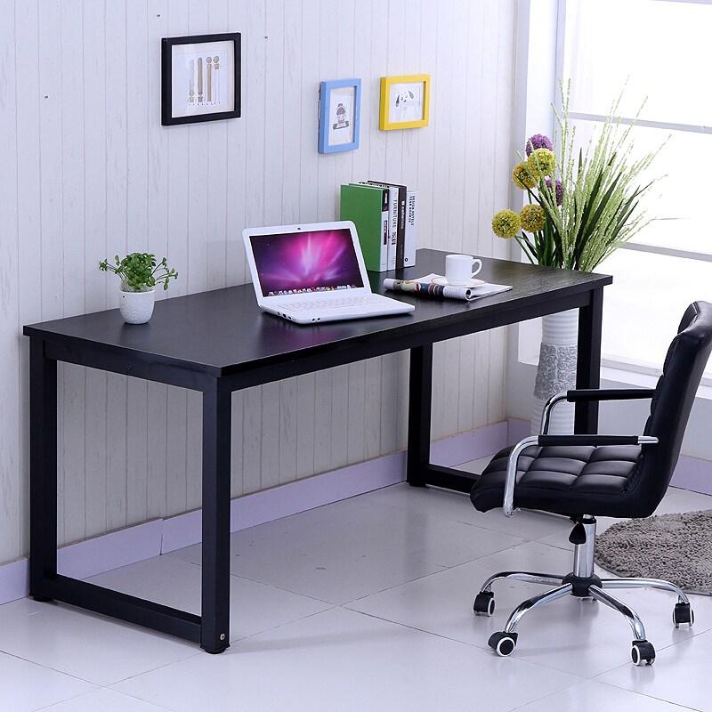 심플 이 양 심 플 컴퓨터책상 책상 기능 학습 사무 용 의자 120 * 60 블랙 호두 길이 너비 높이 75, 상세페이지 참조