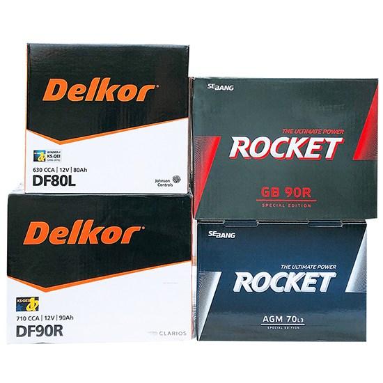 델코 로케트 자동차배터리 전차종 배터리교체 GB DF 40L 50L 60L 80L 90L 100L AGM, 40AL(배터리반납+공구대여)